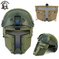 Paintball Airsoft SPT Mesh Full Face Mask Sparta Tactical AF Helmet Masks OD