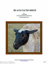 BLACK FACED SHEEP - cross stitch chart
