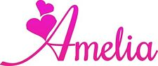 Personalised A6 Name Pink Iron On Transfers x 2
