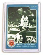 Michael Jordan 1985 Star 1981 Mcdonald's All American Basketball Rare Card