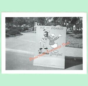 Vintage Disneyland Real Photo Me and Donald Duck at the Art Corner circa 1960