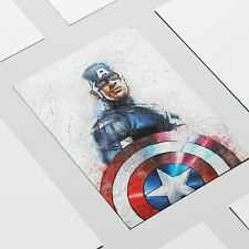 Captain America Painting, The Avengers Wall Art Print on Museum Grade Paper