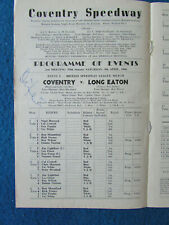 More details for hand signed - ove fundin - coventry v long eaton speedway programme 9/4/66