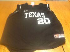 Nike team issue texas longhorns sleeveless basball practice jersey, mens large