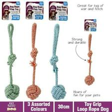 Dog Puppy Toy Rope Tug Durable Quality 30cm War Toys Fetch Tough Pet Chew Ball