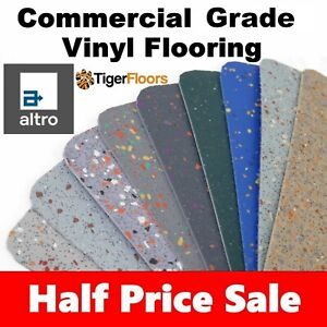 Altro Polysafe Safety Floor - Grey Vinyl Flooring -Heavy Duty! *HALF PRICE SALE*
