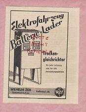 FREIBURG Br., Werbung 1942, Wilhelm Zeh Gleichrichterbau Batterie-Lader Elektro
