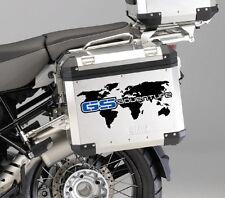 2 x BMW GS Adventure Side Panniers case stickers decal Motorrad R1200 R1150 blue