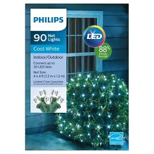 Philips star indooroutdoor christmas lights ebay philips 90 counts net lights cool white green wire 4 x 4 ft 88 energy mozeypictures Choice Image
