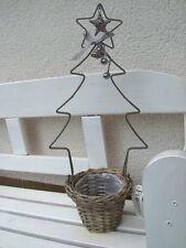 Weidentopf mit Weihnachtsbaum aus Metall 52cm