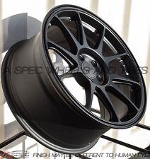 18X8.5 +44 Rota TITAN F 5X114.3 BLACK Wheel Fit Maxima 300Zx 240Sx WRX STI 5X4.5