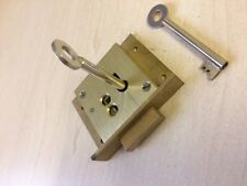 TRADITIONAL FURNITURE LOCK - BRASS FINISH 70mm x 58mm