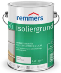 Remmers Isoliergrund Weiss (Ral 9016) auf Wasserbasis gegen Gelbverfärbungen