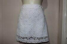 DRESS UP WITH WHITE LACE MINI SKIRT SZ10 BY COOPER ST