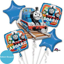 Thomas The Tank Engine Party Supplies 5 Helium Foil Balloons Bouquet Licensed