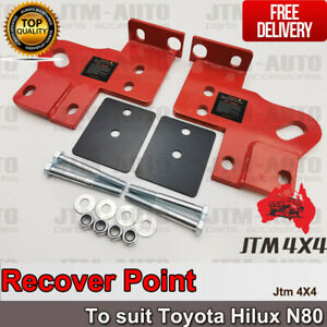 Recovery Tow Point Kit 5 Tonne & Hitch to suit Toyota Hilux N80 2015-2022
