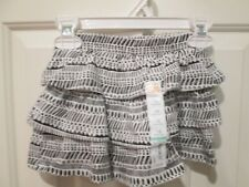 NWT 18 Mos  Tiered Skooter Skirt, black and white