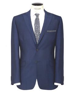 Daniel Hechter Mens Tonic Tailored Wool Suit Jacket, Bright Blue Sz 38 R rrp£180