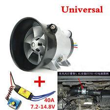 Car Auto Electric Turbine Power Turbo charger Tan Boost Air Intake Fan Universal