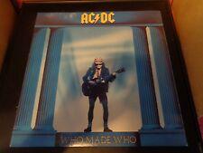 "AC/DC Who Made Who 12"" Vinyl Record Album 81650-1-E EX+ 1986 HELLS BELLS"