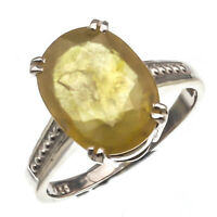 Natural Certified 6.25 Carat Yellow Sapphire Handmade Engagement Solitaire Ring