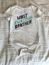 New Nwot Cat & Jack Bodysuit One Piece Baby Boy Size 6-9 Months 6M 9M - Brother