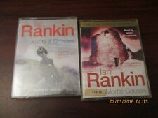Ian Rankin Mortal Causes, Knots and Crosses  Audio Book Tapes