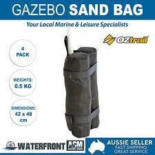 Oztrail 4x Gazebo Sand Bag Marquee Tent Stall Bags Pole Leg Weights Sandbag