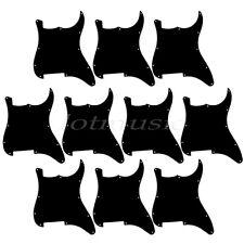 10 Guitar Blank Pickguard Scratch Plate for Fender Strat Stratocaster 3Ply Black