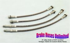 STAINLESS BRAKE HOSE SET Chevrolet Corvair Car 1965 1966 1967 1968