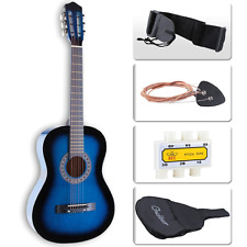 Lagrima 38'' Beginners Acoustic Guitar With Case Strap Tuner & Pick Steel Blue