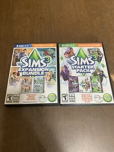 The Sims 3 Lot- PC Bundle Starter Pack & Expansion Pack Case & Discs