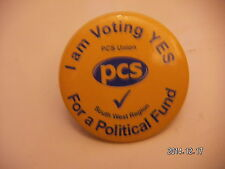 PCS TRADE UNION POLITICAL FUND SOUTH WEST  BADGE