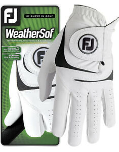 New 2021 FootJoy FJ Weathersof Golf Glove Mens Left Hand For Right Handed Golfer