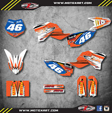 Full  Custom Graphic  Kit - SHOCKWAVE stickers to fit KTM 50 SX 2009 - 2015