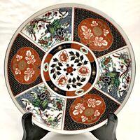 "Vintage Japanese Imari Heritage Porcelain Plate 8.5"" with Gold Trim"