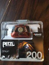 Petzl Zipka Red 200 Lumens LED Hybrid Concept Headlamp E93ABB New!!