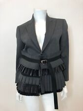 NWT DSQUARED2 Pleated Jacket in Grey/Black Size IT42 $1695