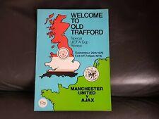 Manchester United V Ajax 1976-77 UEFA Cup 29th September 1976