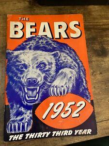 1952 CHICAGO BEARS   MEDIA GUIDE