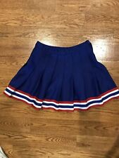 Pleated cheerleading skirt Red White Blue Waist 22 Full 17� Varsity Brand