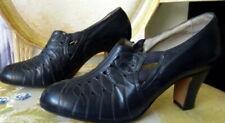 Vintage 1920s Blue Leather Shoes Size 4 1/2
