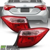 For 2017-2019 Toyota Corolla Sedan Red/Pink Tail Lights Lamps Outer Left+Right