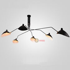 1 2 3 6 Arms Metal Black White Style Ceiling Lamp Chandelier LED Suspensio Light