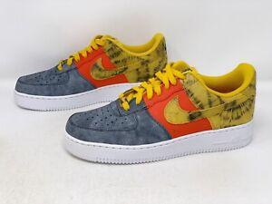 Nike Air Force 1 'Dark Sulfur Tie Dye' Blue Sneaker, Size 9 BNIB CZ0337-700