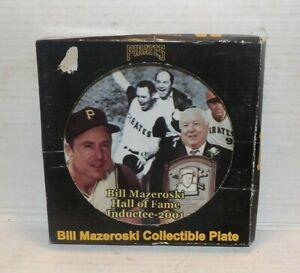 Bill Mazeroski Collectibles Plate Pittsburgh Pirates in box