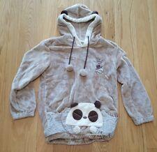 Women Cute Bear Ear Hoodie Jacket Winter Warm Fleece Coat die man chun XL