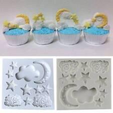 Moon Star Cloud Fondant Silicone Cake Mold Baking Chocolate Sugar Decor Tool DIY