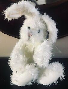 "Vintage Heartfelt Collectable Easter Bunny Rabbit Plush Toy ~15"" tall - mint"