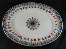 Large English Victorian Transferware Oval Platter - Copeland Denmark 1881